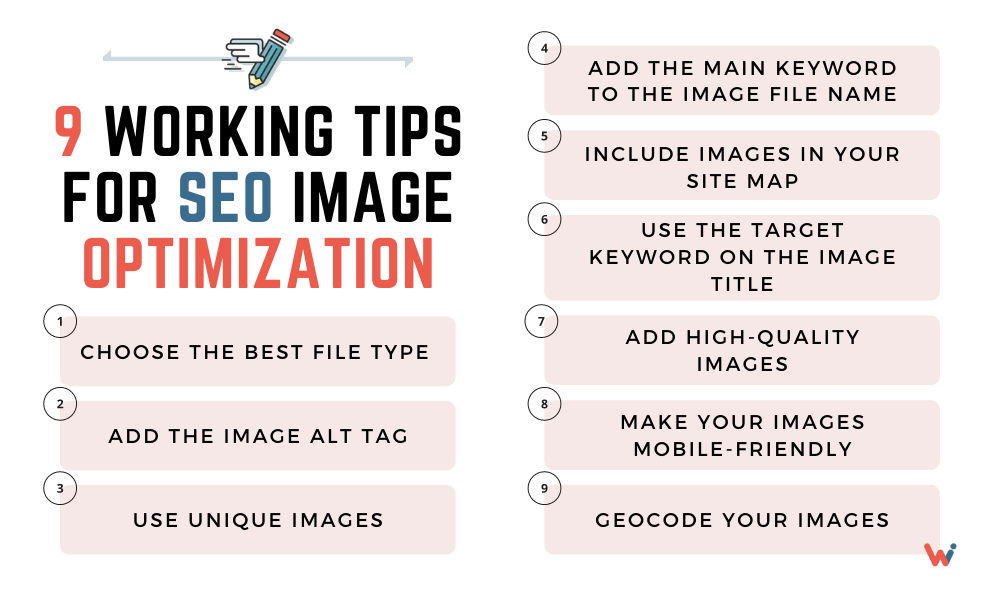 9 working tips for SEO image optimization