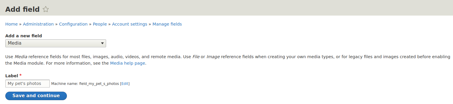 Adding Media field to Drupal content