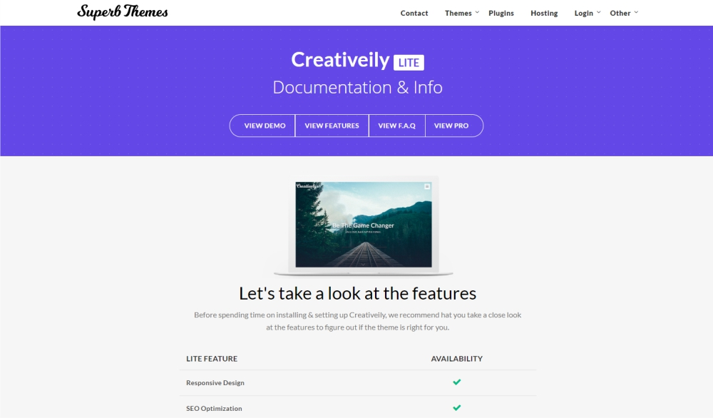 Creativelly design and photography WordPress theme