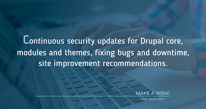 Drupal website maintenance and support
