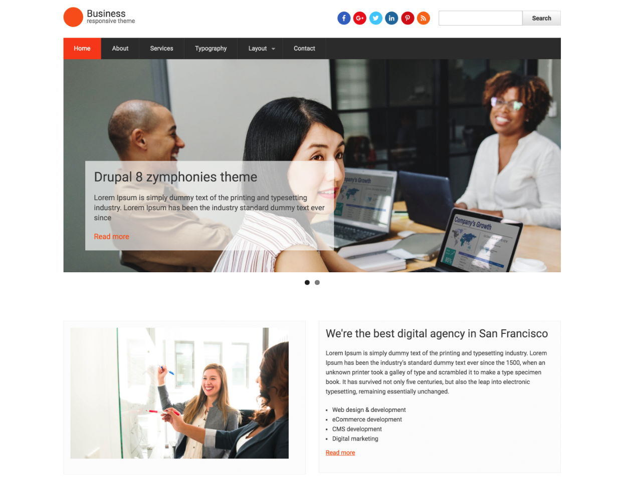 Drupal Business Responsive Theme