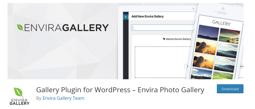 Envira gallery plugin WP