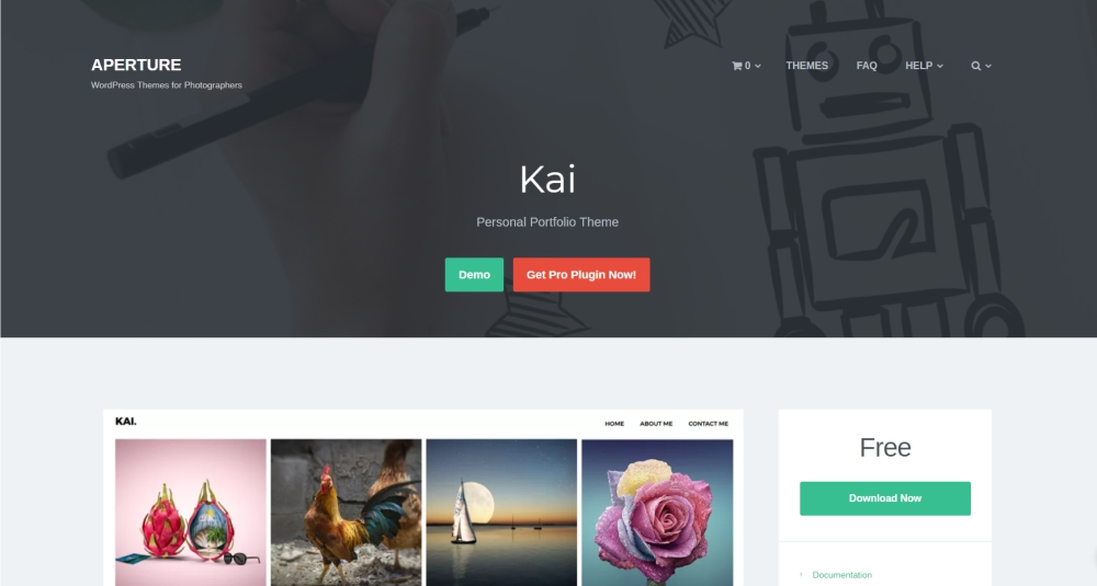 Kai design and photography WordPress theme