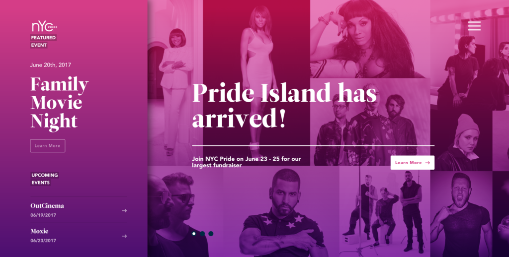 NYC Pride gradient background