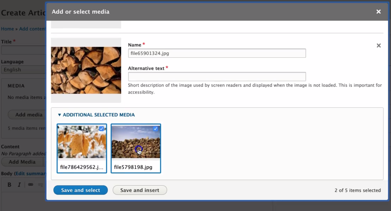 New Media Library admin UI for Drupal 8.7