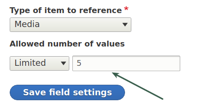 Number of values in Media field Drupal 8
