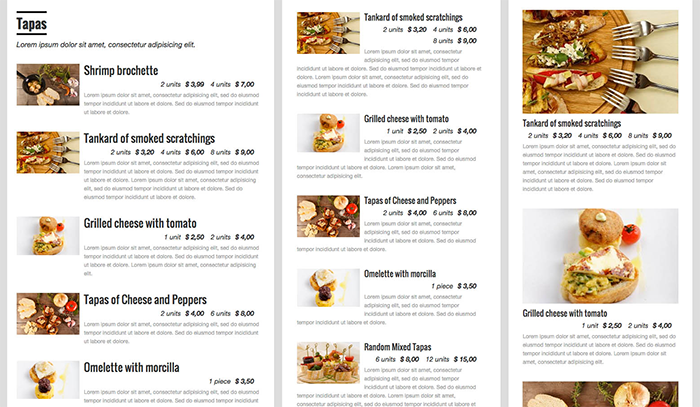 Quick Restaurant Menu Plugin for restaurant websites