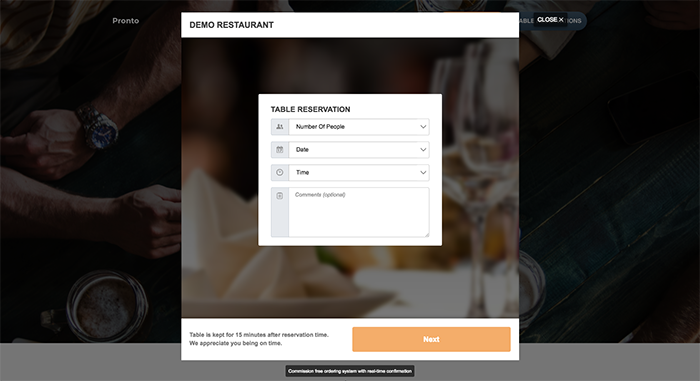 Restaurant Menu – Food Ordering System – Table Reservation Plugin for restaurant websites
