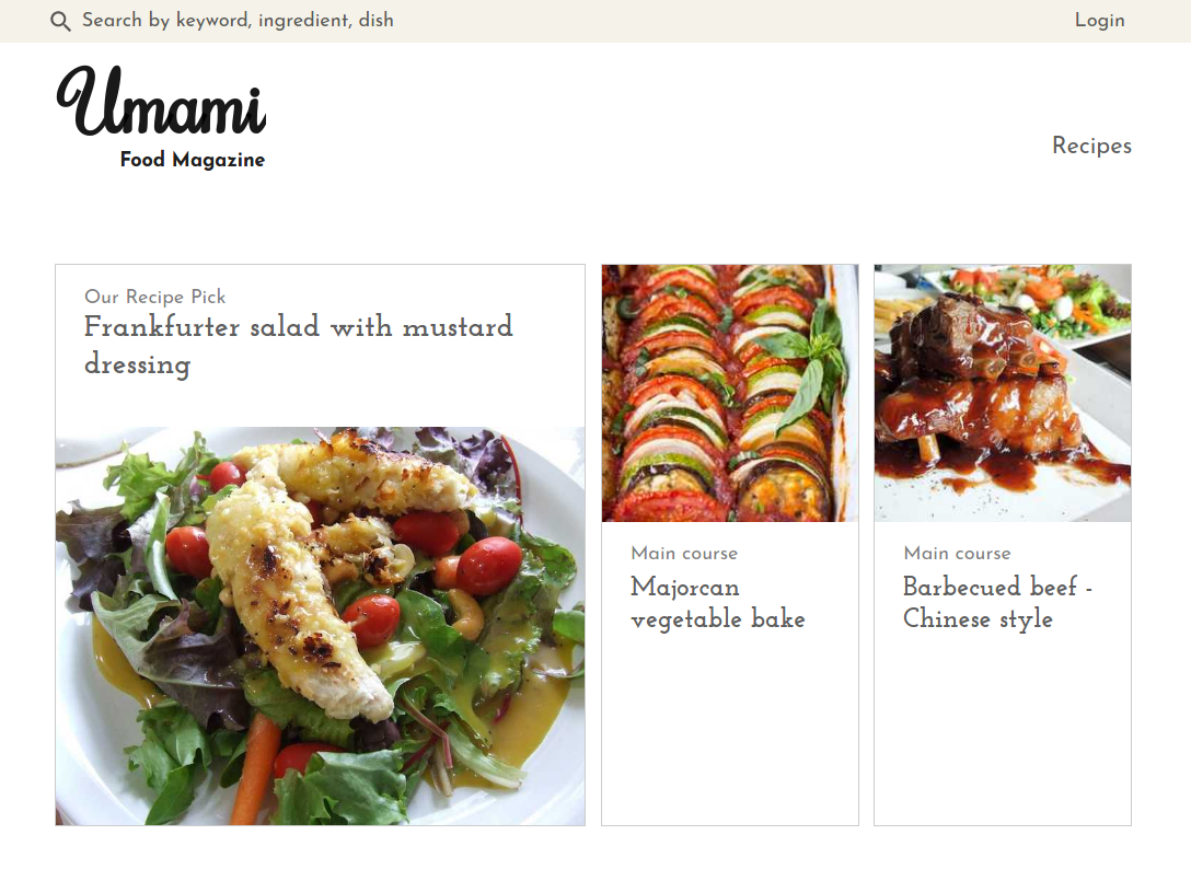 Umami Food Magazine uses Gatsby 2