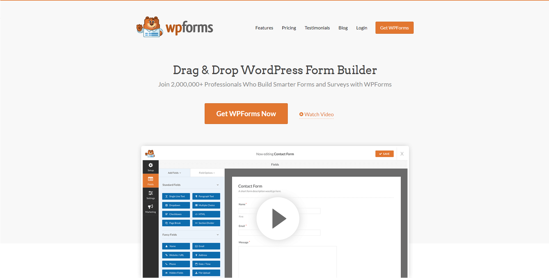 WP Forms contact form plugin