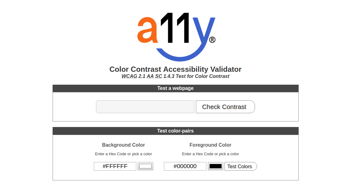 A11Y Color Contrast Accessibility Validator