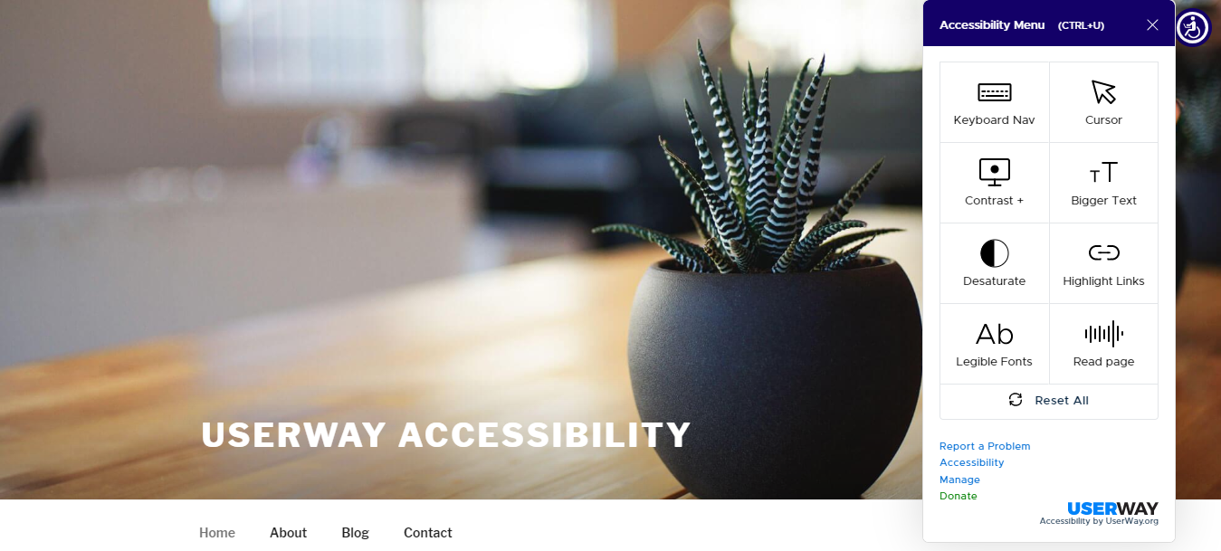 Accessibility by UserWay WordPress plugin