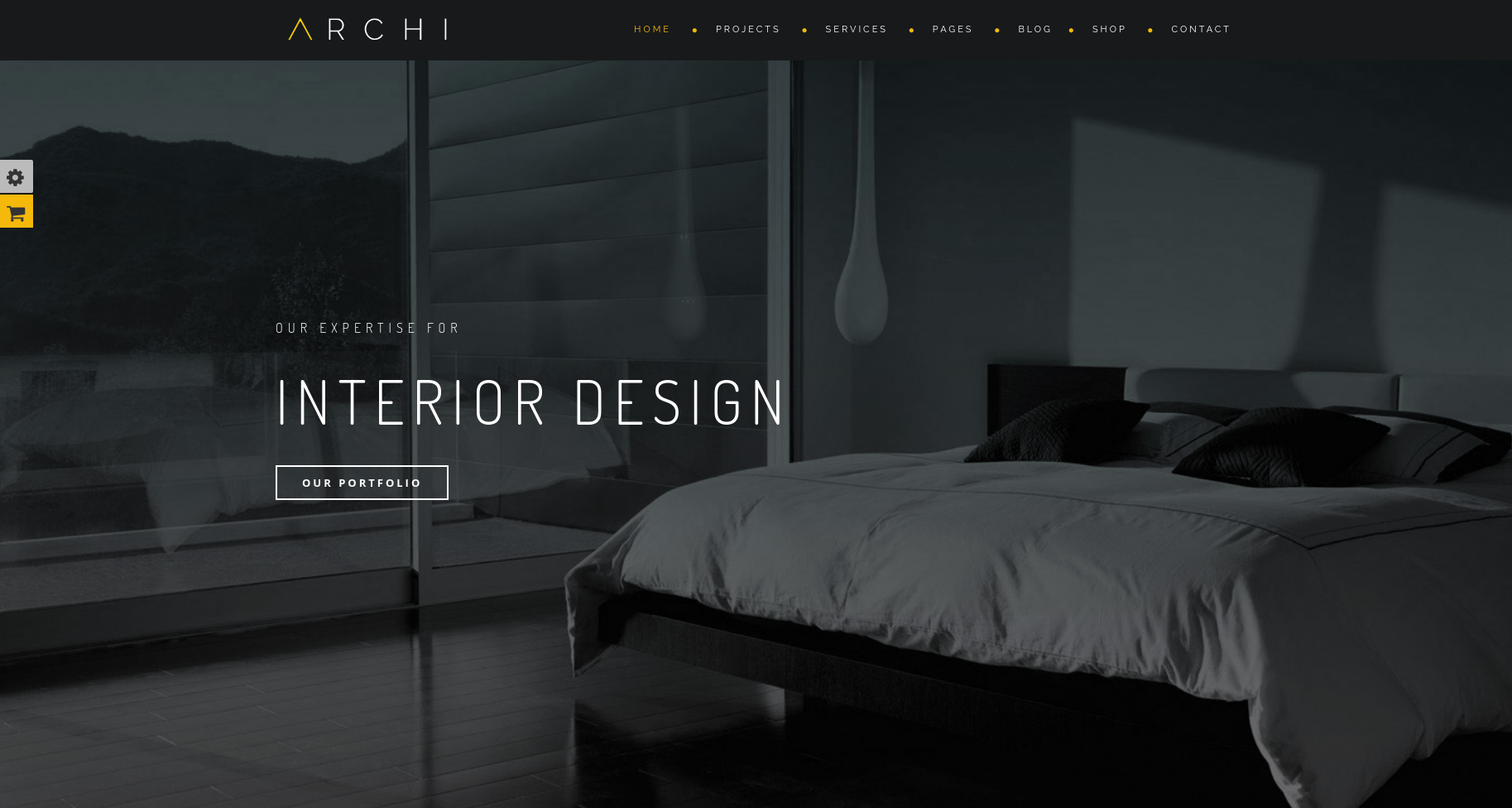 Archi dark WordPress theme