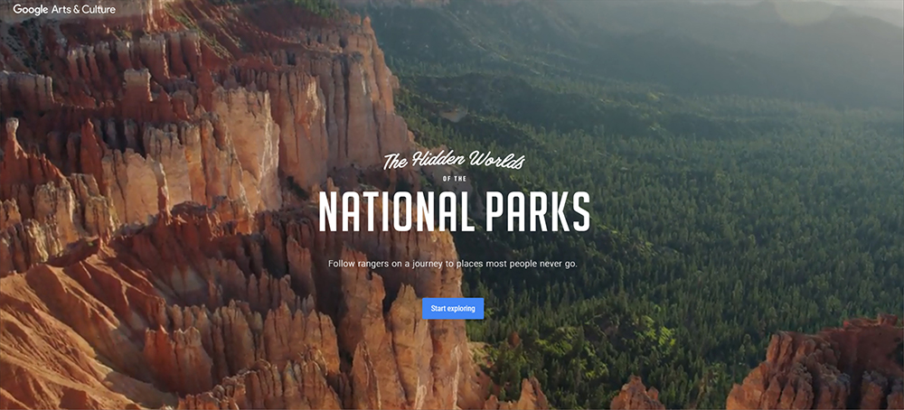 The background video is really astonishing on The Hidden Worlds of the National Parks website