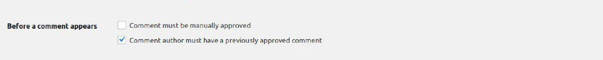 before comment appears section in WordPress