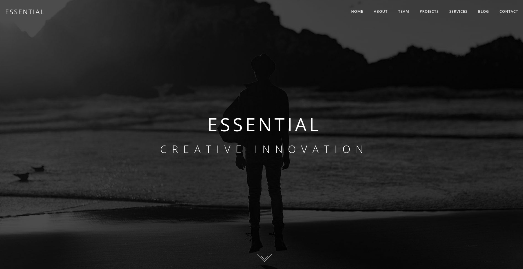 Essential dark WordPress theme