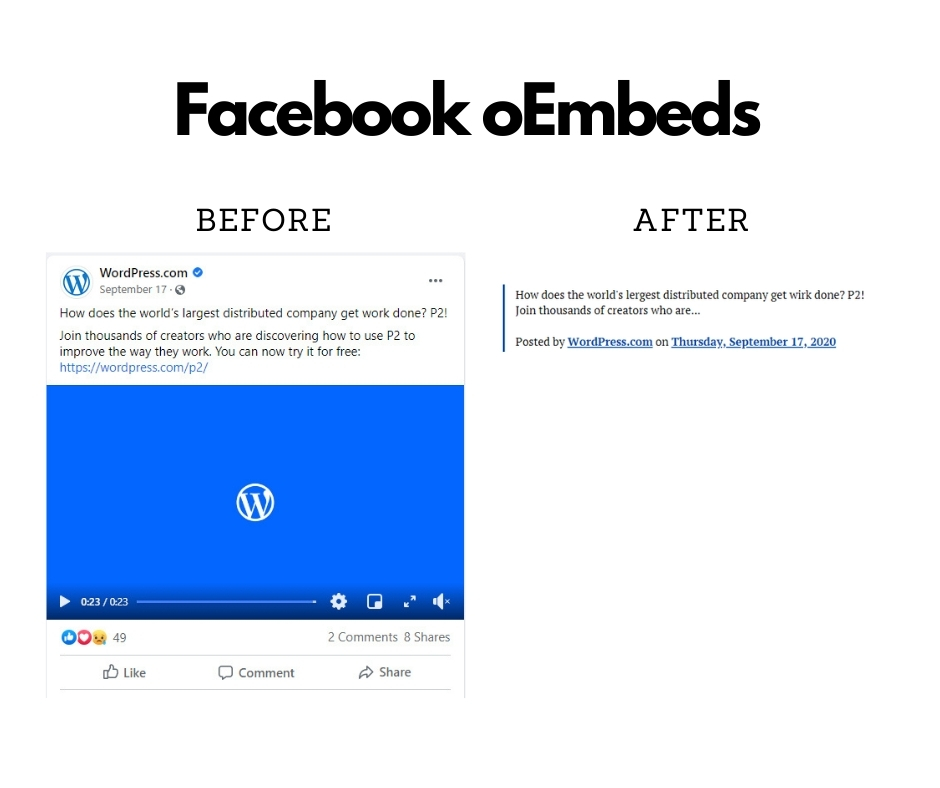 Facebook oEmbed issue
