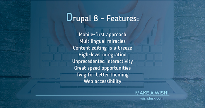 features in drupal 8