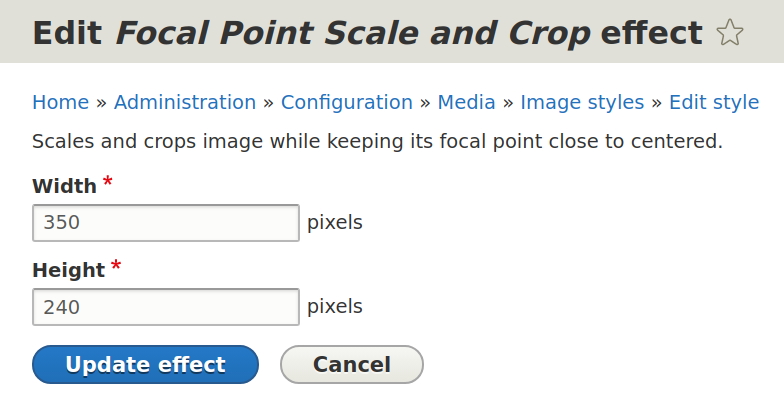 Specifying image dimensions — Focal Point scale and crop effect in Drupal 8