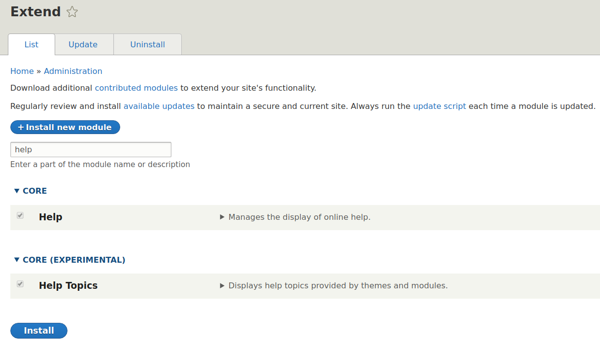 Help Topics module to come to Drupal 8.8 core