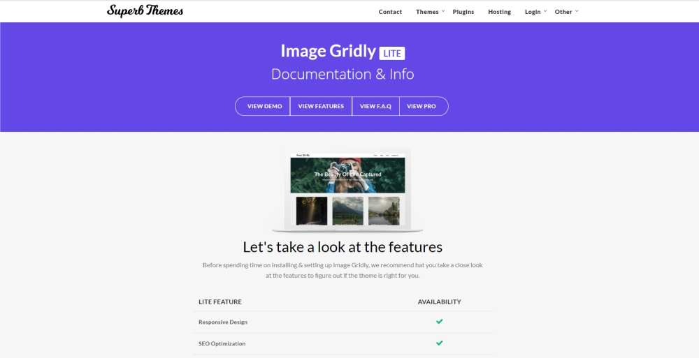 Image Gridly design and photography WordPress theme
