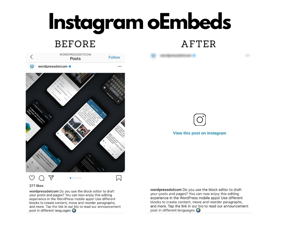 Instagram oEmbed issue