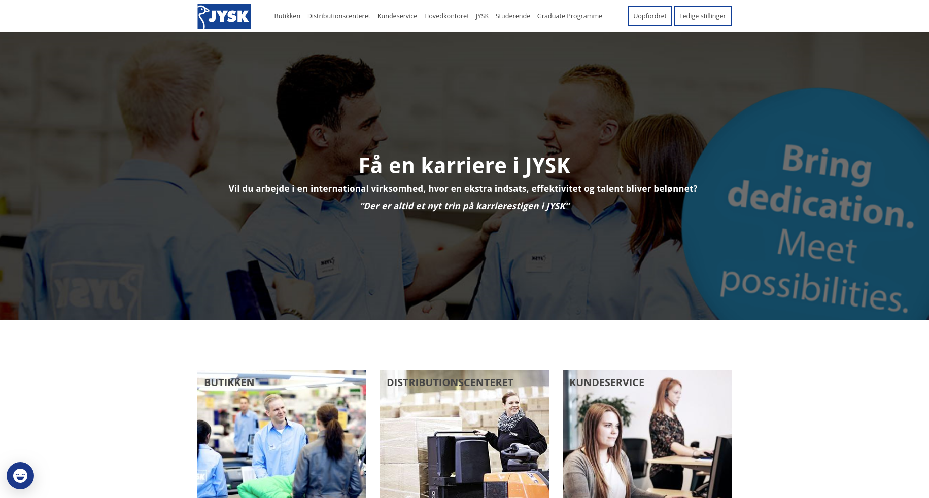 JYSK career website