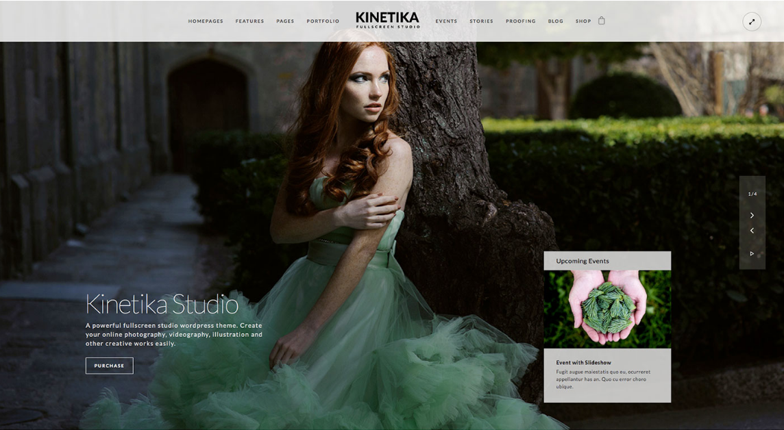 Kinetika dark WordPress theme
