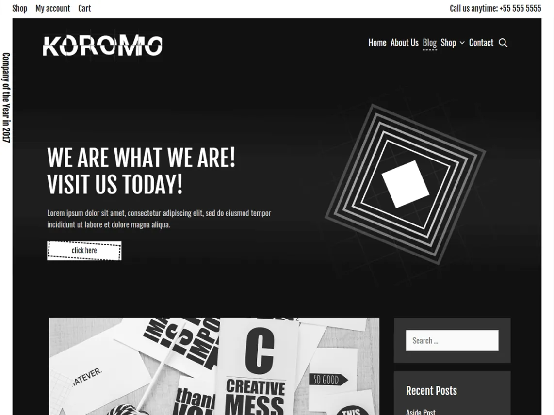 Koromo dark WordPress theme