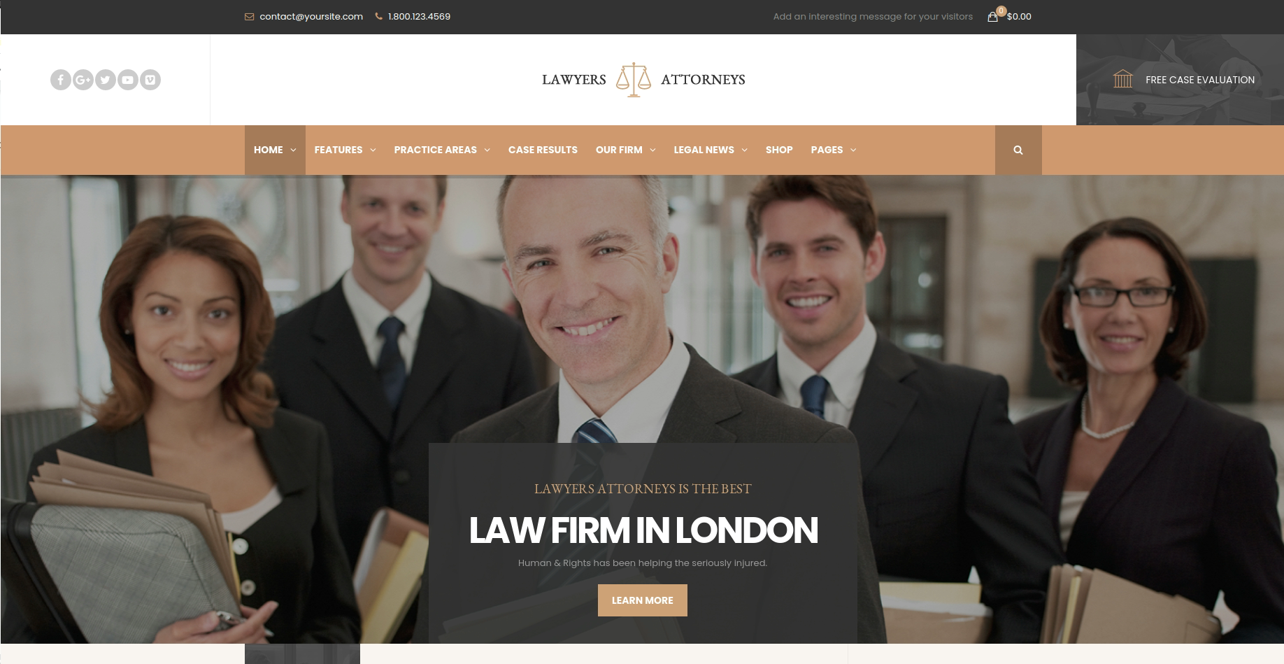 Lawyer Attorneys lawyer website template