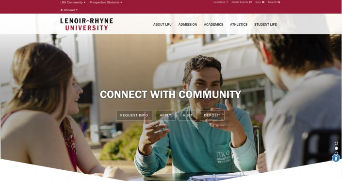 Lenoir Rhyne University as an example of hi-ed homepage design trends
