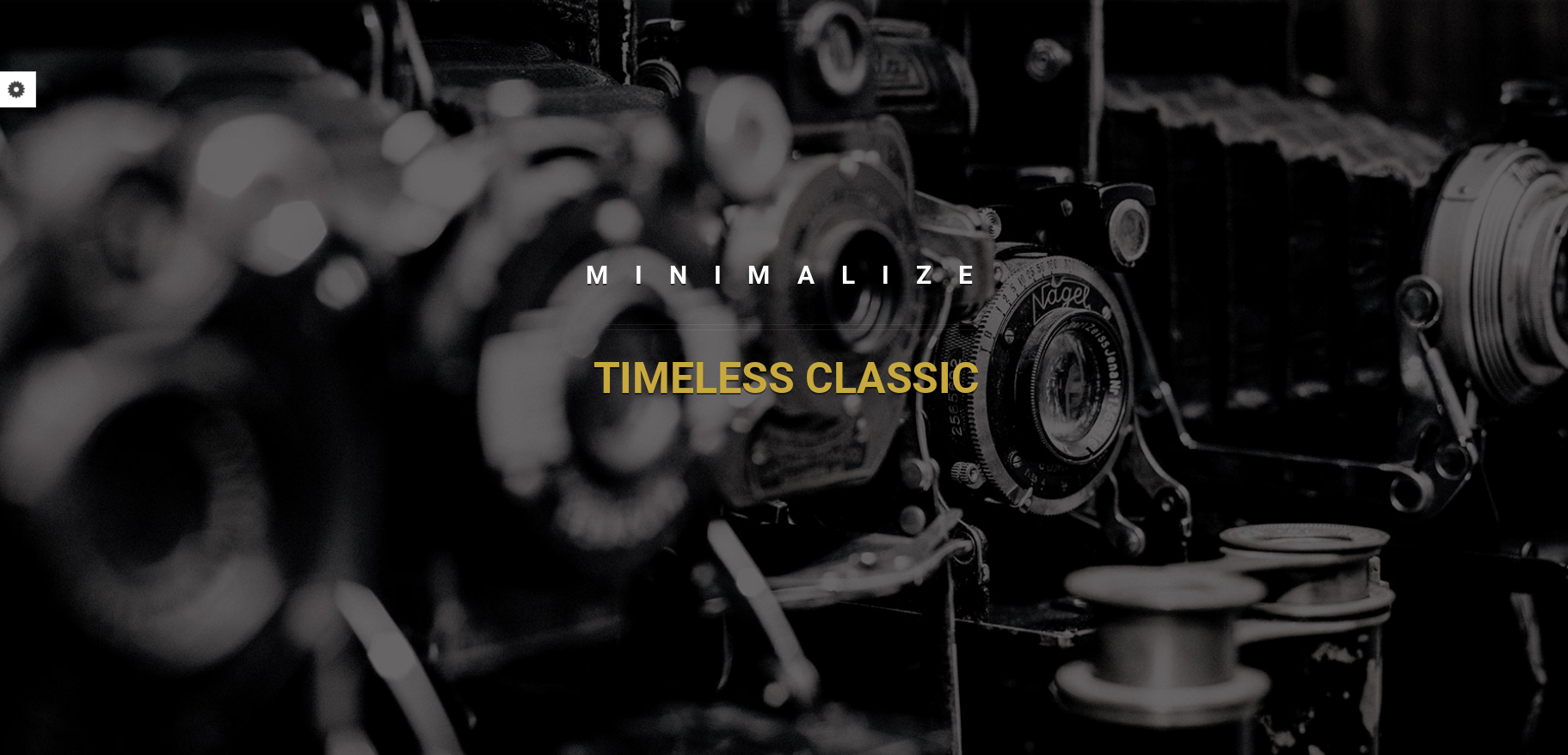 Minimalize dark WordPress theme
