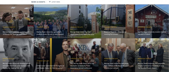 Murray State University as an example of hi-ed homepage design trends