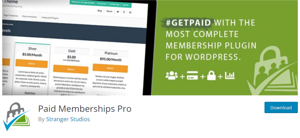 Paid Memberships Pro WordPress membership plugin