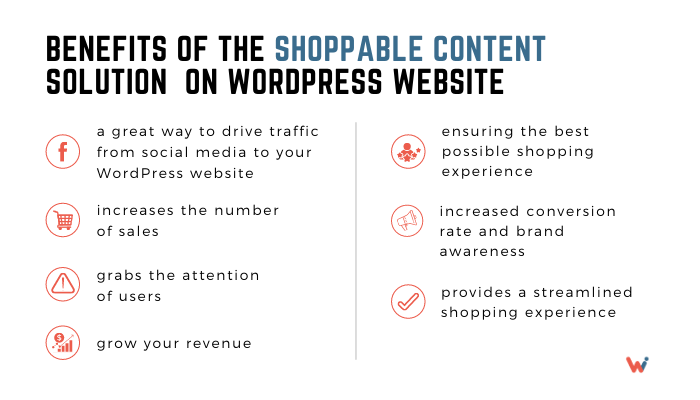 Benefits of the Shoppable Content on WordPress website