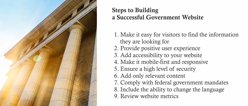 steps to building a successful government website