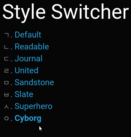 Style Switcher Drupal module for accessibility