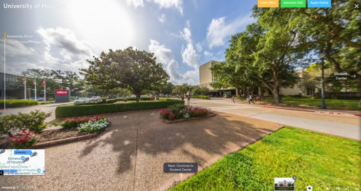 University of Houston as an example of hi-ed homepage design trends