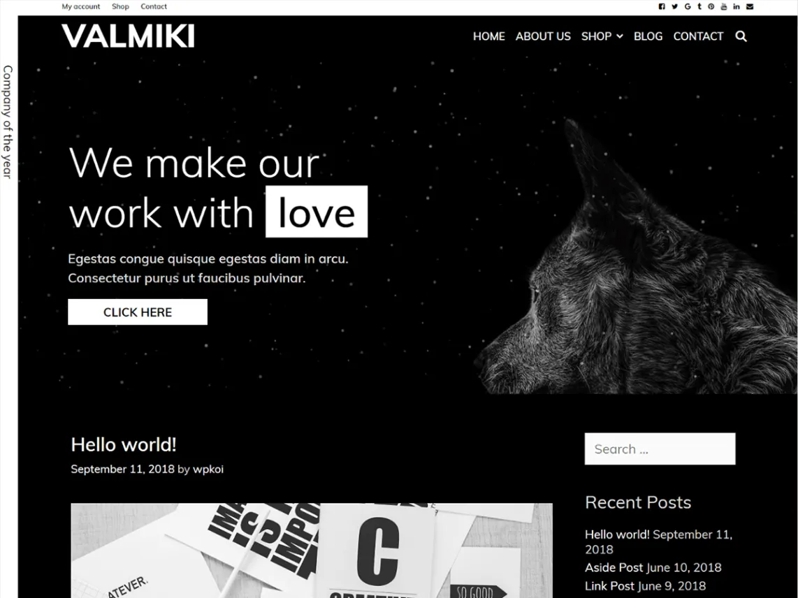 Valmiki dark WordPress theme