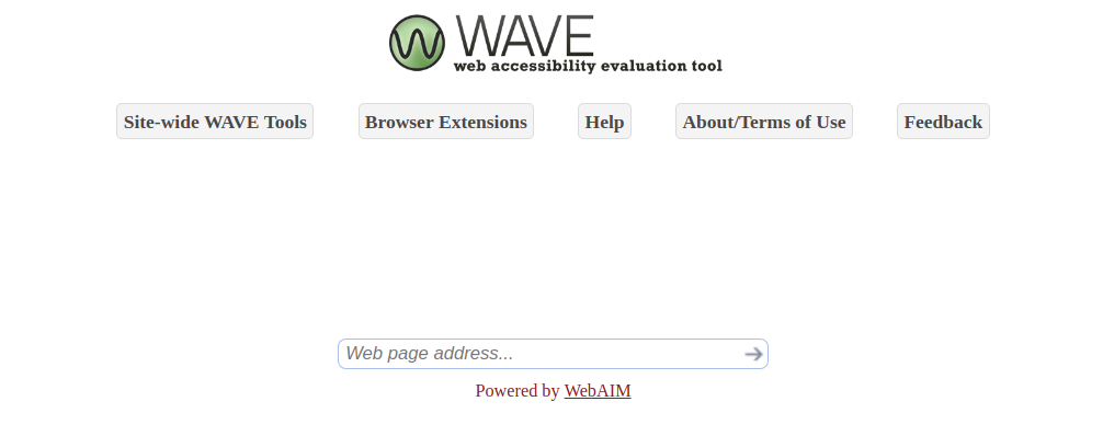 Wave website accessibility checking tool